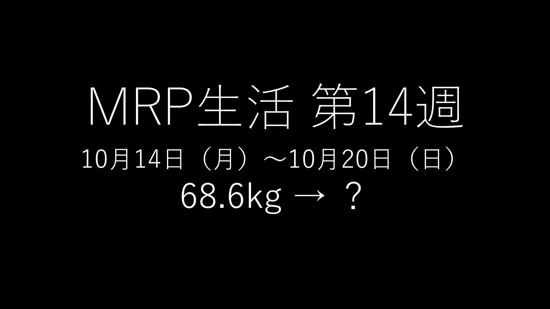 基本的にMRPだけで生きてみる」第14回のアイキャッチ画像