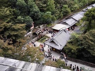 音羽の滝(清水の舞台からの眺め)