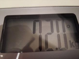 72.0kg