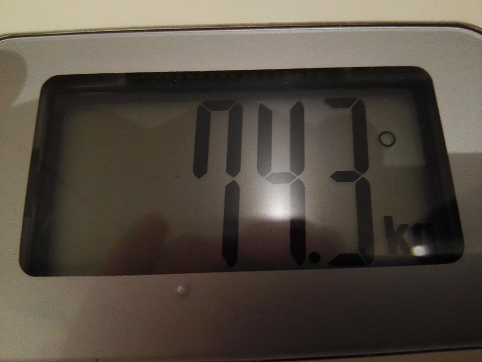 74.3kg