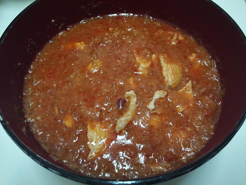 鶏ムネ肉のトマト煮込み