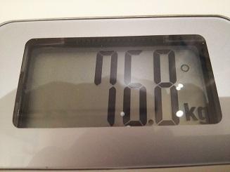 76.8kg