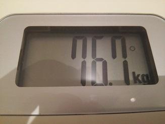 76.7kg