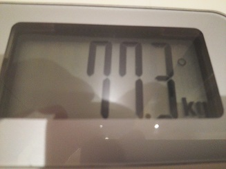 77.3kg