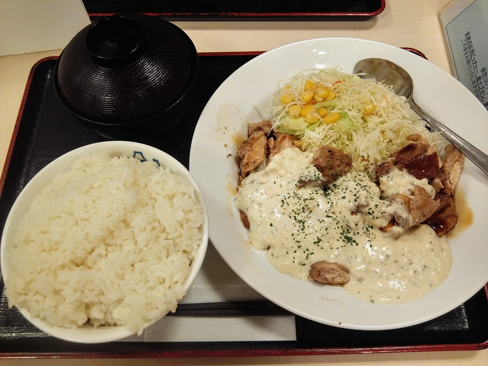 チキン南蛮焼き定食(W定食)
