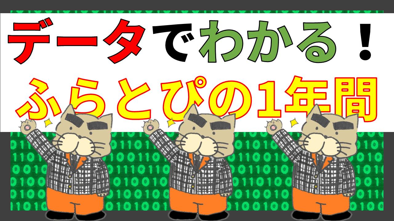 「ふらとぴ 1st アニバーサリー」の「データでわかる! ふらとぴの1年間」のアイキャッチ