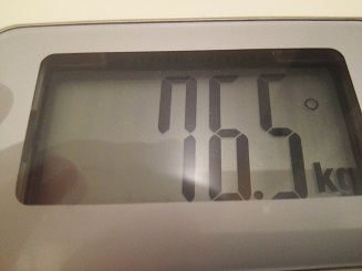 76.5kg