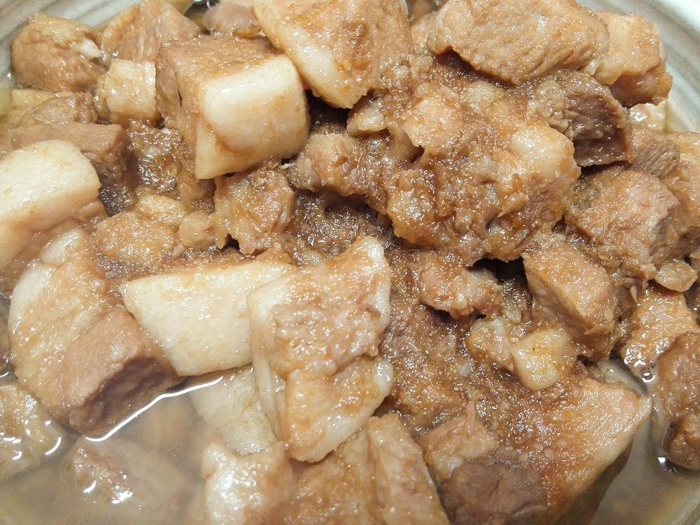 豚バラ肉のニンニクショウガ炒め