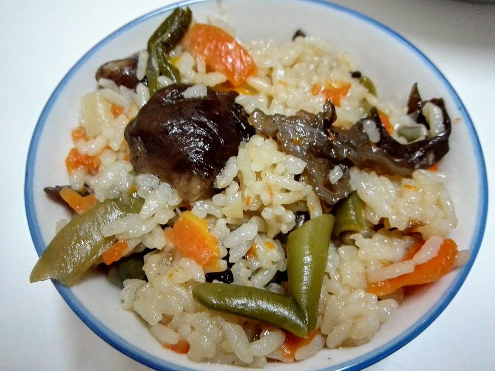 中華野菜の炊き込みご飯