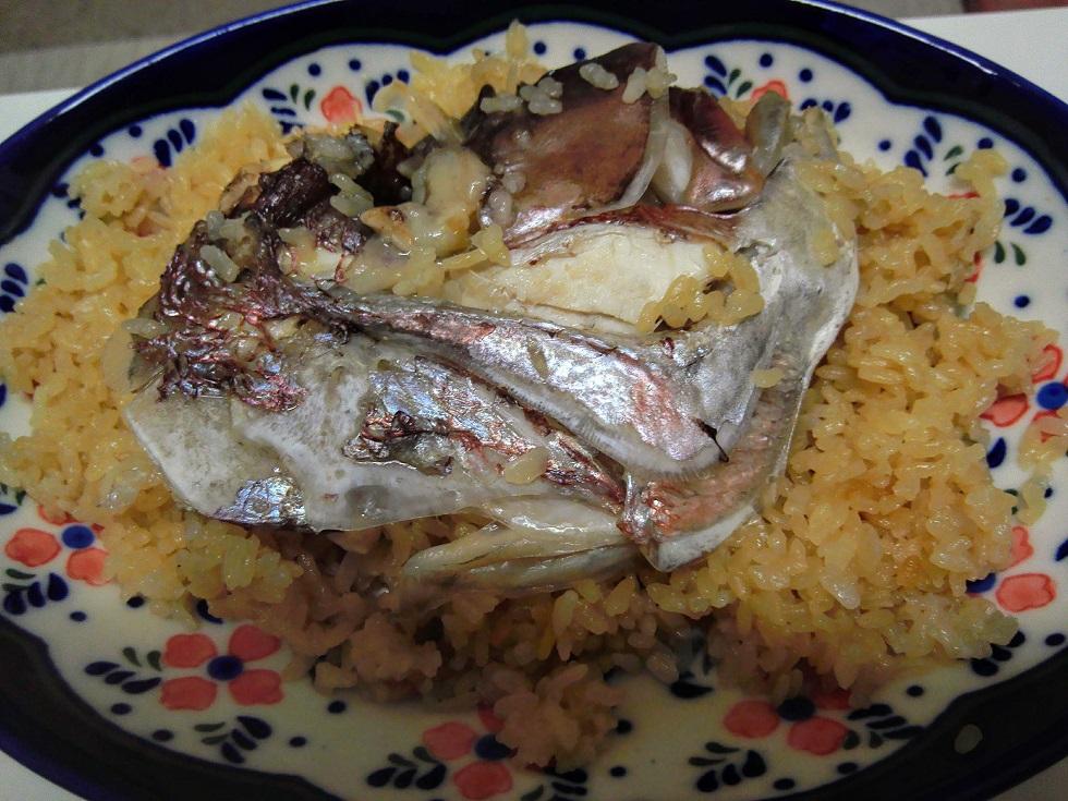 真鯛のアラの炊き込みご飯