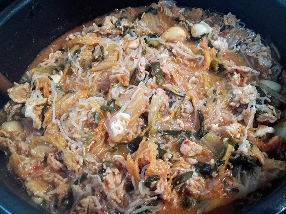 白滝キムチ鍋