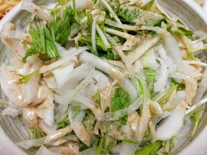 玉ねぎ水菜サラダ