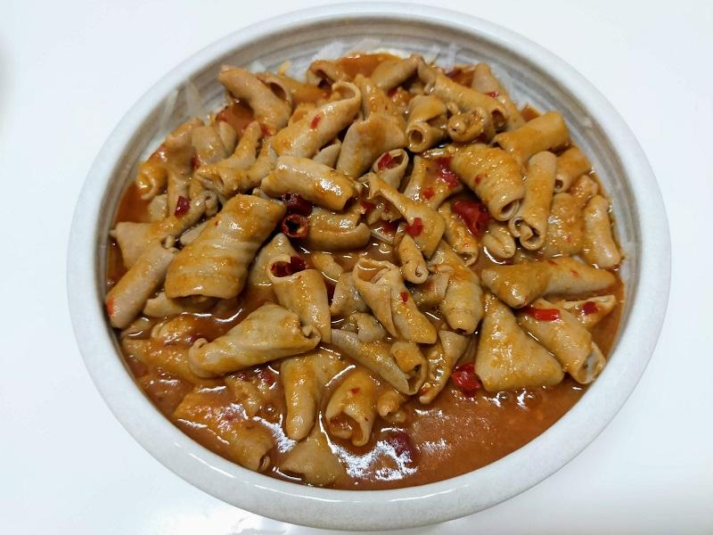 豚ホルモンの辛味炒め中華風